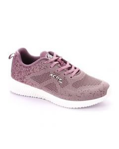 Activ Comfy Casual Lace Up Fashion Sneakers - Purple
