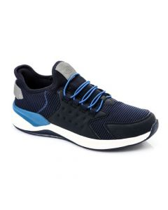 Activ Slip On Sneakers With Decorative Drawstring - Navy Blue