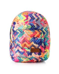 Activ Colorful Zig Zag Casual Backpack - Multicolour