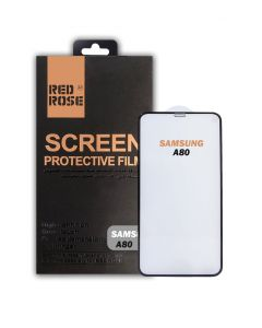 RED ROSE SAMSUNG A80 SCREEN PROTECTOR