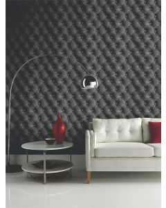 Classic Silver leather 3D Foam Wallpaper
