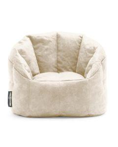 Luxury Fabric Bean Chair Beige