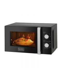 Black & Decker Solo Microwave Oven, 20 Liters, 700 Watt, Black - MZ2010P