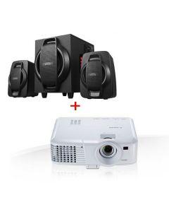 جهاز عرض الوسائط المتعددة من كانون - LV-X320 & نظام مكبر صوت بورش متعدد الوسائط من دوب - S 3000