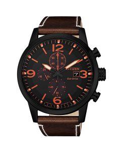 ساعة سيتيزن ايكو درايف ، انالوج بعقارب ، بسوار جلدي للرجال - CA0617-11E