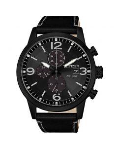 ساعة سيتيزن ايكو درايف ، انالوج بعقارب ، بسوار جلدي للرجال - CA0617-29E