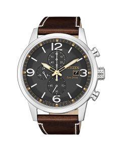 ساعة سيتيزن ايكو درايف ، انالوج بعقارب ، بسوار جلدي للرجال - CA0618-26H