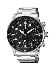 ساعة سيتيزن ايكو درايف ، انالوج بعقارب ، سوار ستانلس ستيل للرجال - CA0690-88E