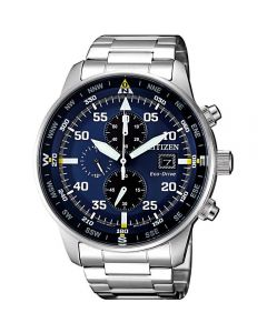 ساعة سيتيزن ايكو درايف ، انالوج بعقارب ، سوار ستانلس ستيل للرجال - CA0690-88L