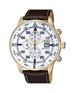 ساعة سيتيزن ايكو درايف ، انالوج بعقارب ، بسوار جلدي للرجال - CA0693-12A