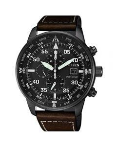 ساعة سيتيزن ايكو درايف ، انالوج بعقارب ، بسوار جلدي للرجال - CA0695-17E