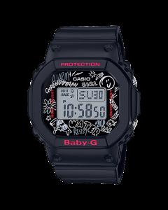 ساعة كاجوال بيبي جي كاسيو للنسا، ديجيتال، سوار بلاستيك، اسود  - BGD-560SK-1DR