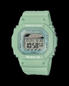 ساعة كاجوال بيبي جي كاسيو للنساء، ديجيتال، سوار سيليكون، اخضر  - BLX-560-3DR