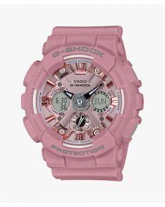 ساعة كاجوال جي شوك كاسيو للنساء،انالوج - ديجيتال، سوار بلاستيك، وردي  - GMA-S120DP-4ADR