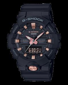 ساعة رياضية جي شوك كاسيو للرجال، انالوج-ديجيتال، سوار بلاستيك، اسود - GA-810B-1A4DR