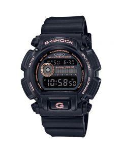 ساعة رياضية جي شوك كاسيو للرجال، ديجيتال، سوار بلاستيك، اسود - DW-9052GBX-1A4DR