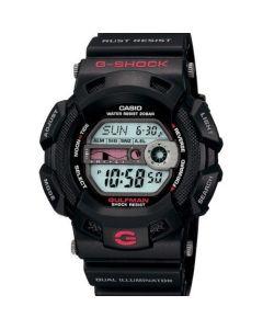 ساعة رياضية جي شوك كاسيو للرجال، ديجيتال، سوار سيليكون، اسود - G-9100-1DR