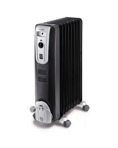 DeLonghi Oil Heater, 9 Fins, 2000 Watt, Black - KH770920BK