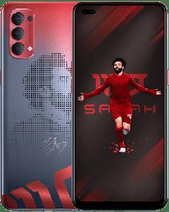 OPPO Reno4 Mo Salah Edition Dual SIM, 128GB, 8GB RAM, 4G LET, Red