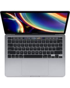 لاب توب ابل ماك بوك برو MWP52 Mid 2020 Model انتل كور اي 5 الجيل العاشر، شاشة ريتينا 13.3 انش، 1 تيرا اس اس دي، 16 جيجا رام، كيبورد انجليزي، نظام تشغيل ماك، رصاصي ، نسخة عالمية