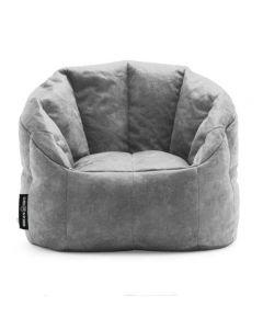 Luxury Fabric Bean Chair Gray