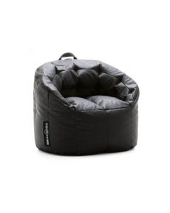 Luxury Leather Bean Chair Black