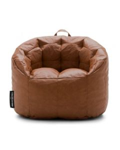 Luxury Leather Bean Chair Brown