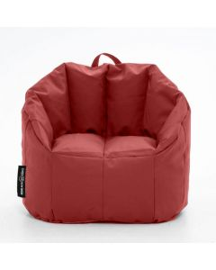 Luxury Leather Bean Chair Burgundy