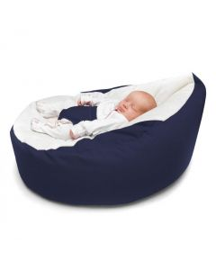 Newborn Fabric Bean Bed  Dark Blue