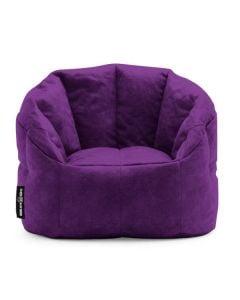Luxury Fabric Bean Chair Purple
