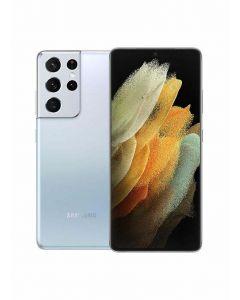 موبايل سامسونج S21 Ultra بشريحتين اتصال - شاشة 6.8 بوصة، 256 جيجابايت، 8 جيجابايت رام، شبكة الجيل الخامس - فضي