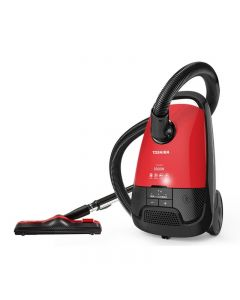TOSHIBA Canister Vacuum Cleaner, 1800 Watt, Black & Red - VC-EA1800SE