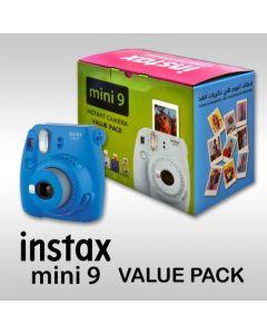 Fujifilm Instax Mini 9 Instant Film Camera Value Pack - Cobalt Blue