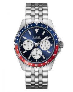 ساعة جيس للرجال اوديسي مينا ازرق وبسوار ستانلس ستيل - W1107G2.1